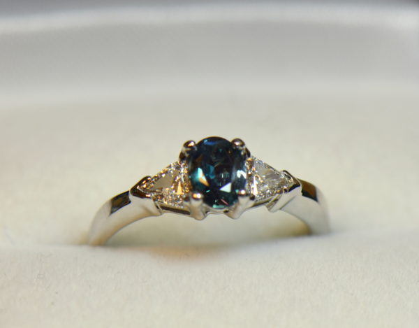 Brazilian alexandrite .63ct trillion diamond ring white gold 8.JPG