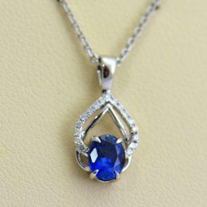 Dainty Blue Sapphire Diamond Embrace Pendant.JPG
