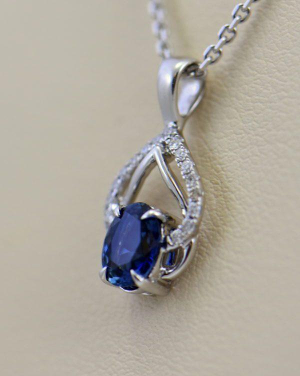 Dainty Blue Sapphire Diamond Embrace Pendant 2.JPG