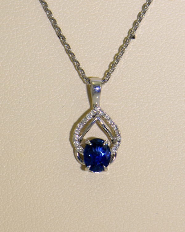 Dainty Blue Sapphire Diamond Embrace Pendant 4.JPG