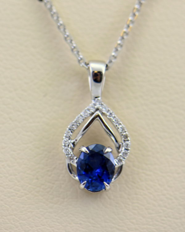 Dainty Blue Sapphire Diamond Embrace Pendant 5.JPG
