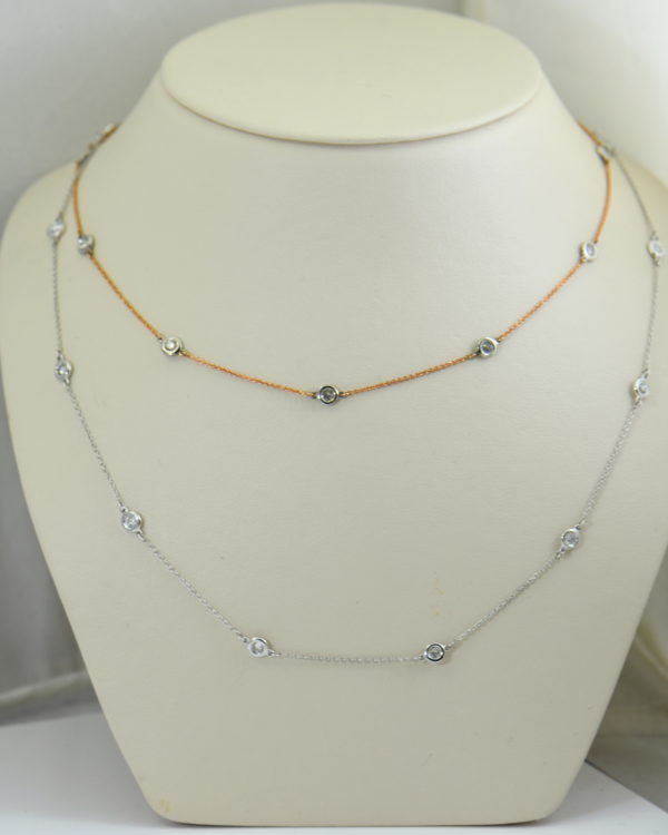 Diamonds By The Yard Necklaces In White Rose Gold.JPG