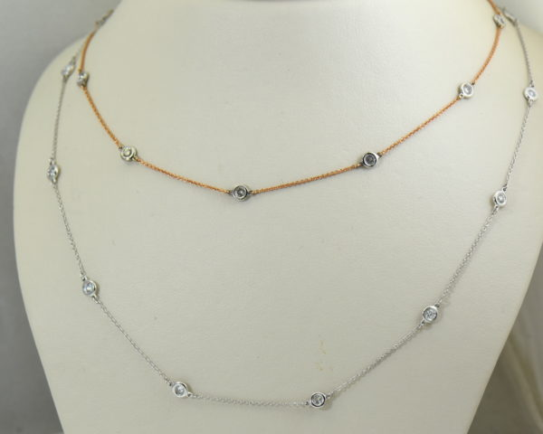 Diamonds By The Yard Necklaces In White Rose Gold 2.JPG