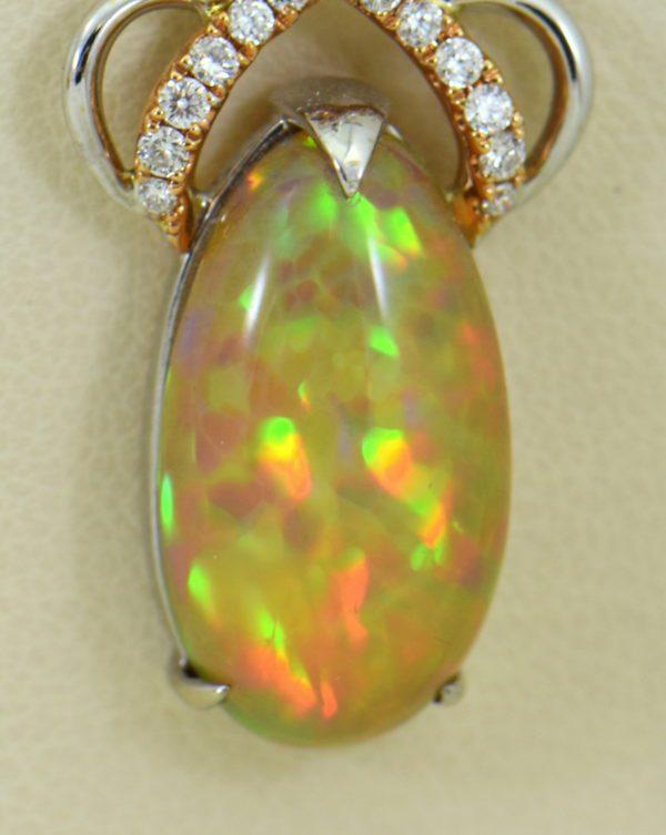 Ethiopian Opal Pendant In Twotone Gold with Snakeskin pattern 5.JPG