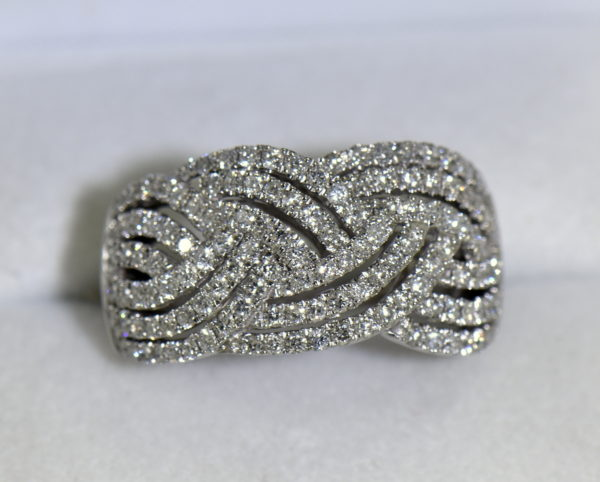 diamond right hand ring with basket weave pattern 1.37ctw white gold 5.JPG