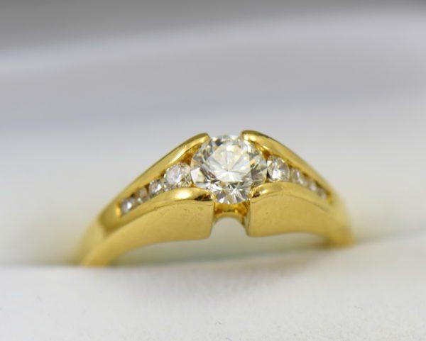 estate custom 18k engagement ring with .7ct round diamond and euroshank 5.JPG
