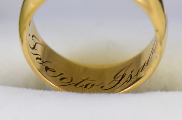 antique 7mm wide yellow gold wedding band 5.JPG