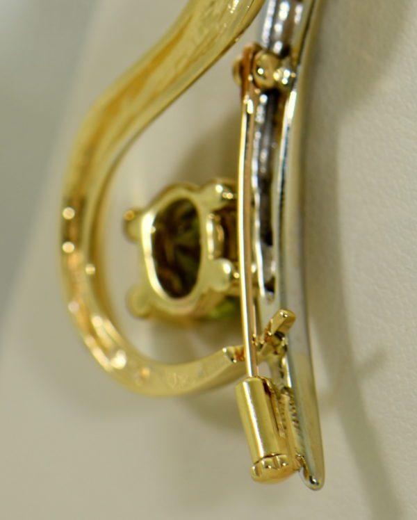 custom designed pin or pendant with sphene and yellow diamonds treble clef 4.JPG