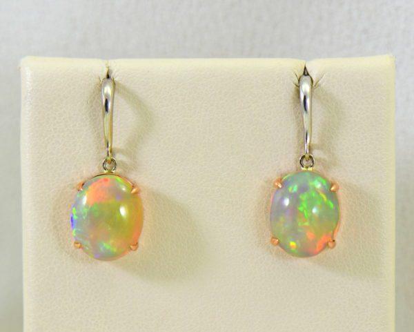 ethiopian opal earrings in rose and white gold.JPG