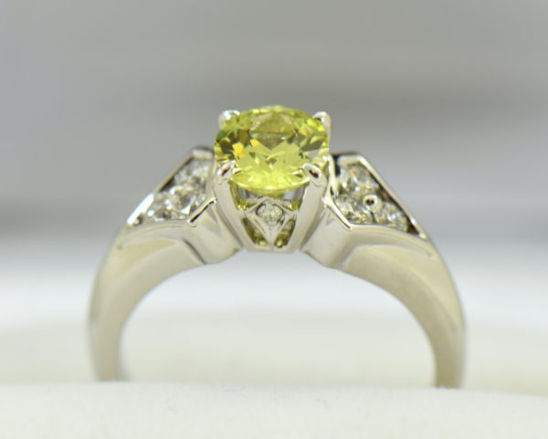golden yellow chrysoberyl engagement ring with diamond shield accents 3.JPG