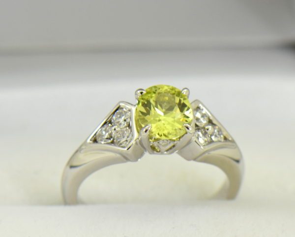 golden yellow chrysoberyl engagement ring with diamond shield accents 4.JPG