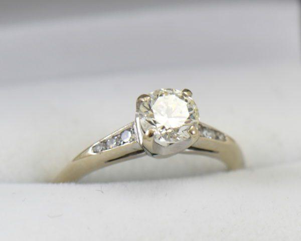 mid century .80ct vs k diamond engagement ring in white gold.JPG