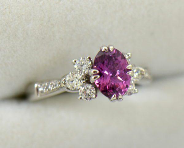 plum purple sapphire and diamond engagement ring in white gold 2.JPG