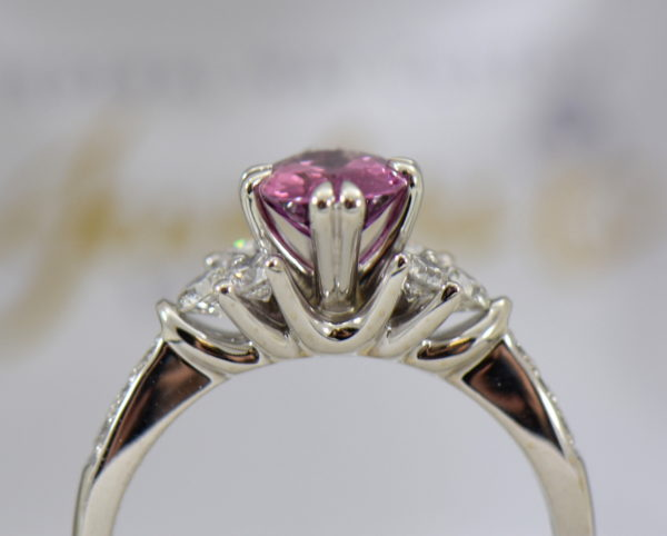 plum purple sapphire and diamond engagement ring in white gold 4.JPG