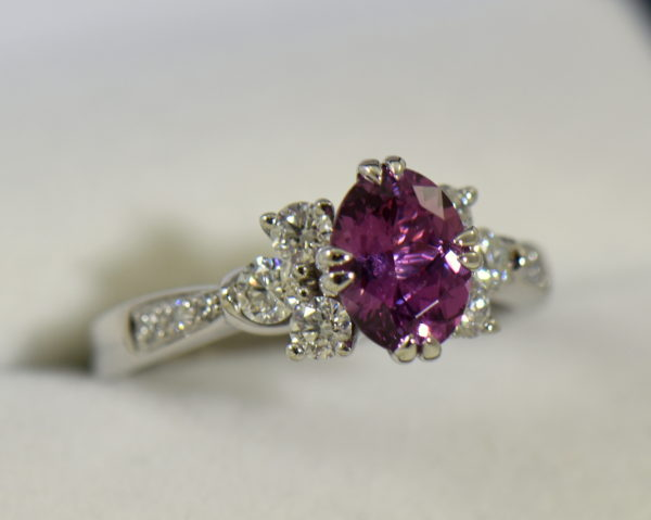 plum purple sapphire and diamond engagement ring in white gold 5.JPG