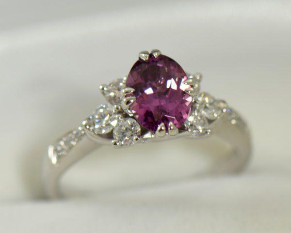 plum purple sapphire and diamond engagement ring in white gold 6.JPG