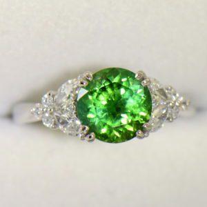 round green tourmaline diamond engagement ring in white gold 3.JPG