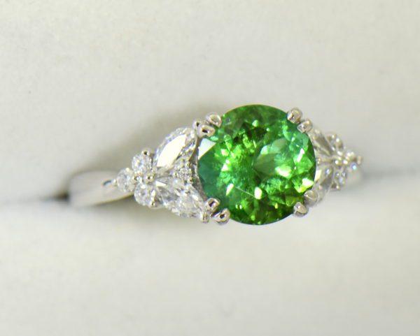 round green tourmaline diamond engagement ring in white gold 4.JPG