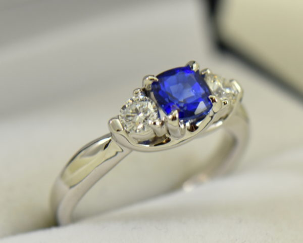white gold square cushion sapphire diamond three stone ring 2.JPG